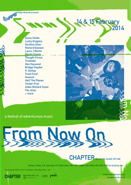 Shape records presents - FROM NOW ON Festival @ Chapter 14th+15th / 02 / 14 /// (Scatter all exclamation marks along the dotted line) .......................!!!